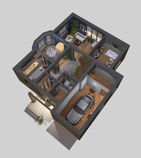 APS 033 - Rzut parteru 3D