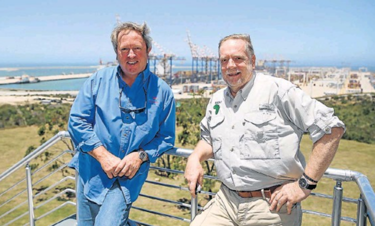 Rupert Bravery, right, from the UK, specialising in oil spills, and top world salvage expert Nick Sloane attended the five-day oil spill response workshop at the Port of Nqura