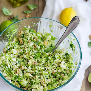 Easy Citrus Brussels Sprout Salad.