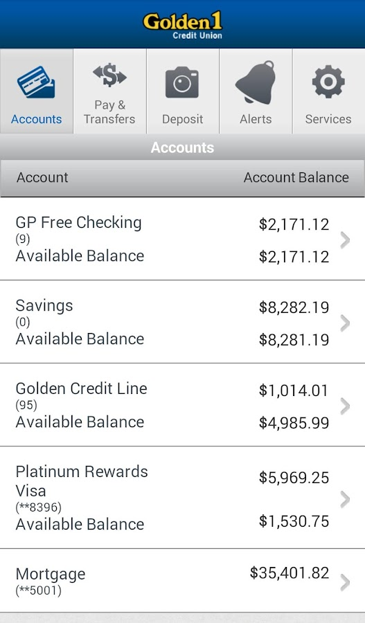 golden 1 check account
