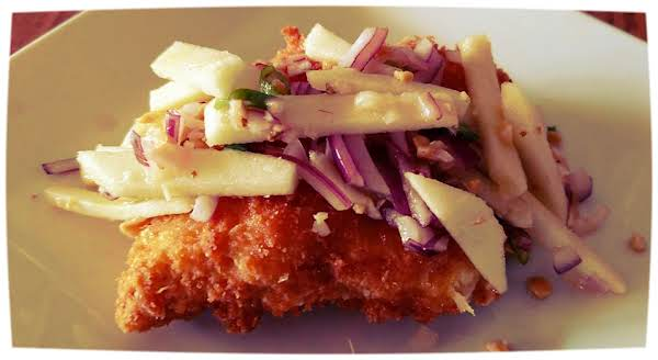 Deep Fried Trout With Green Apple Slaw Recipe