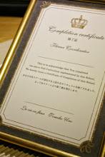 Photo: 東京 ひばりが丘 「La vie en Fleur」様がされているスクールの修了書のデザイン