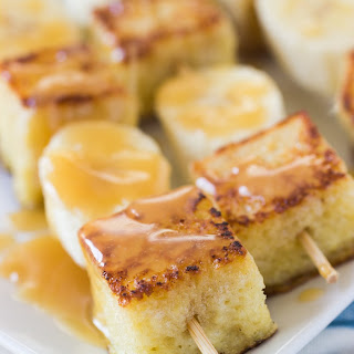 Bananas Foster French Toast Kebabs
