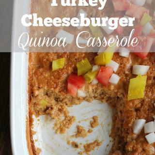Turkey Cheeseburger Quinoa Casserole