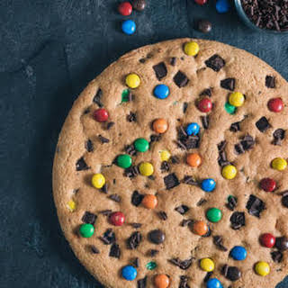 Giant Cookie Using Cake Mix.