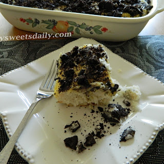 Outrageous Oreo Cookies And Cream Poke Cake