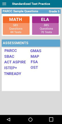 Common Core Math English Tests - screenshot