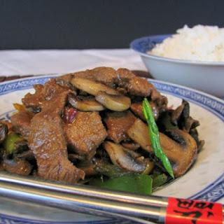 Pork and Mushroom Stir Fry.