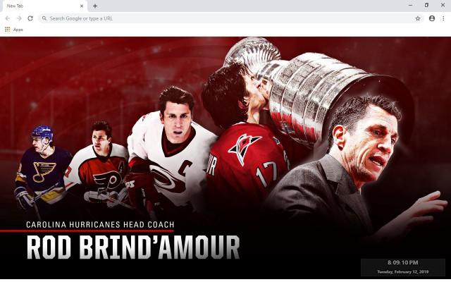 NHL Carolina Hurricanes New Tab Theme