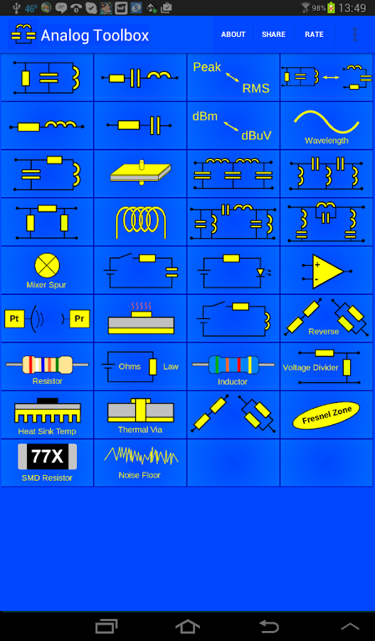 Electronics Toolbox- screenshot