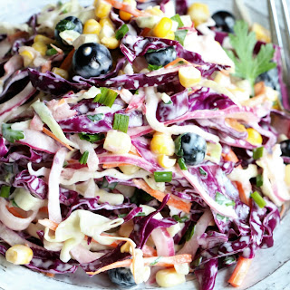 Buttermilk Summer Slaw with Blueberries & Corn