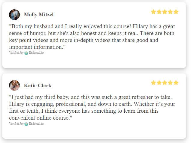online prenatal class reviews