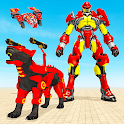 Panther Transform Robot: Grand Drone Robot Games icon