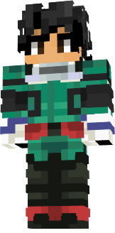 Here's a personal skin, I used the Deku hairstyle as a base because it's the same as mine irl and I put my colors on it