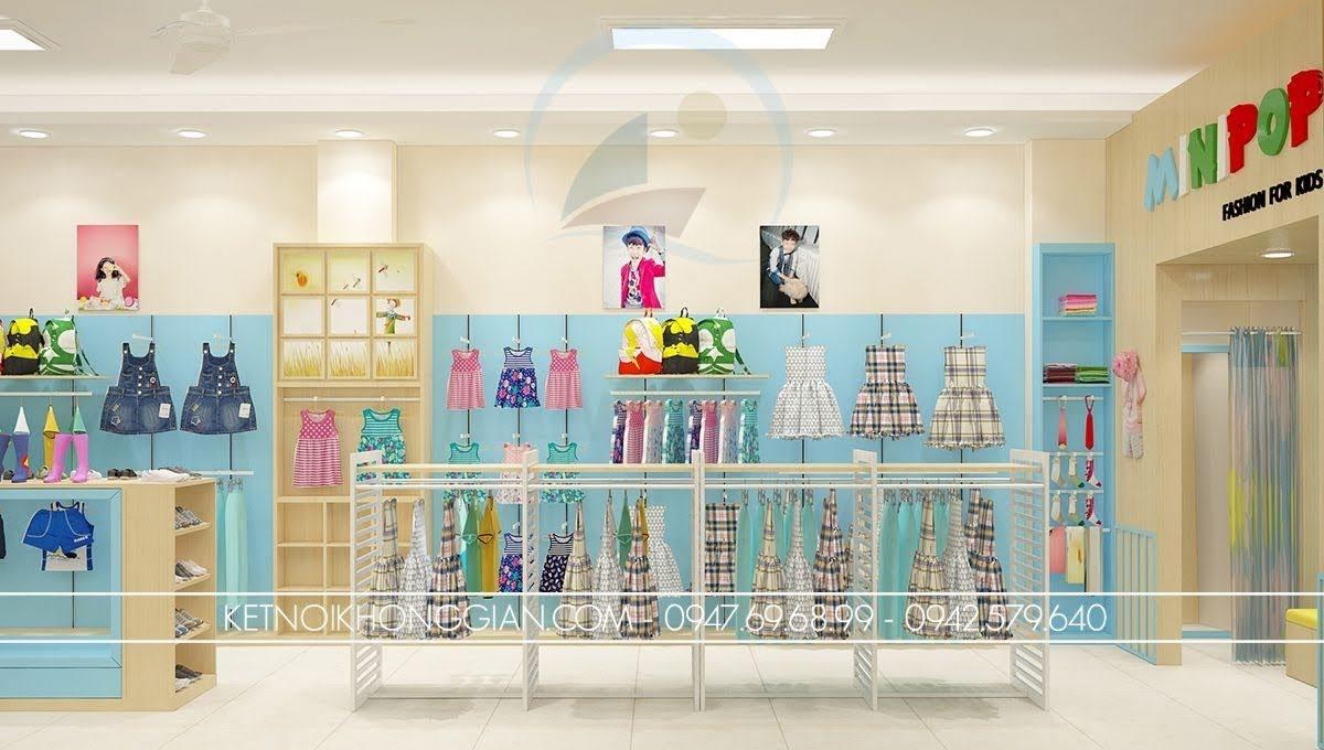 thiết kế shop thời trang trẻ em tại hà nội