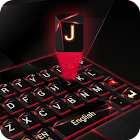 red laser dark keyboard future glass neon icon