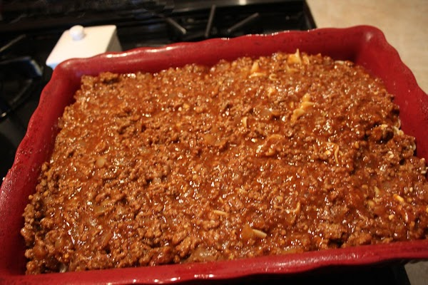 Top with meat mixture.