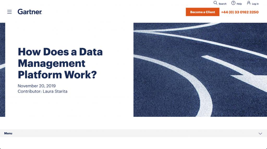 Wie funktioniert eine Datenmanagement-Plattform? – Gartner