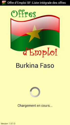 Offre d'Emploi Burkina Faso