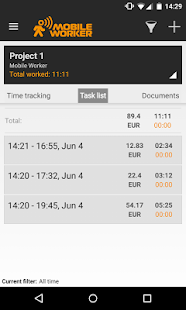 Time tracker - Mobile Worker- screenshot thumbnail