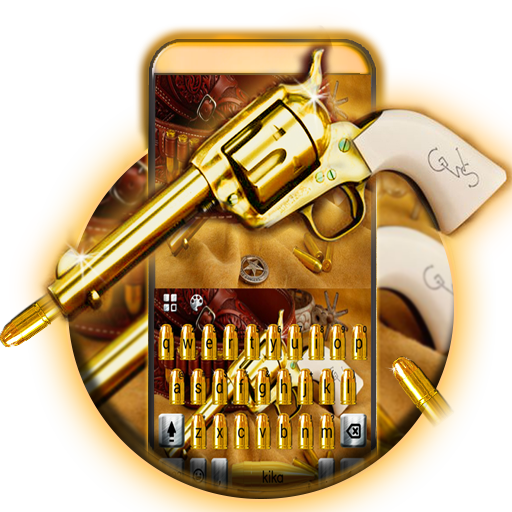 Western Gold Gun Keyboard Theme file APK for Gaming PC/PS3/PS4 Smart TV
