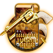 App Western Gold Gun Keyboard Theme APK for Windows Phone