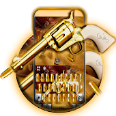 Western Gold Gun Keyboard Theme
