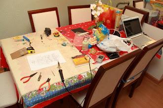 Photo: Mesa de trabalho 25/12/11 - Pequena bagunça