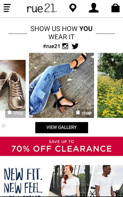 rue21 Shop the latest Girls & Guys fashion trends - screenshot