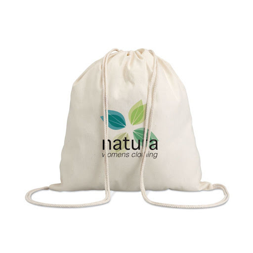 natural cotton drawstring backpacks