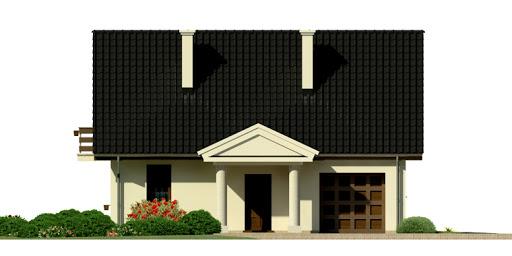 Dom przy Polnej - Elewacja przednia