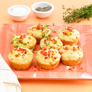 Kresse-Feta-Muffin mit Paprika