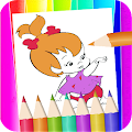 flintstones coloring page and drawing book fans