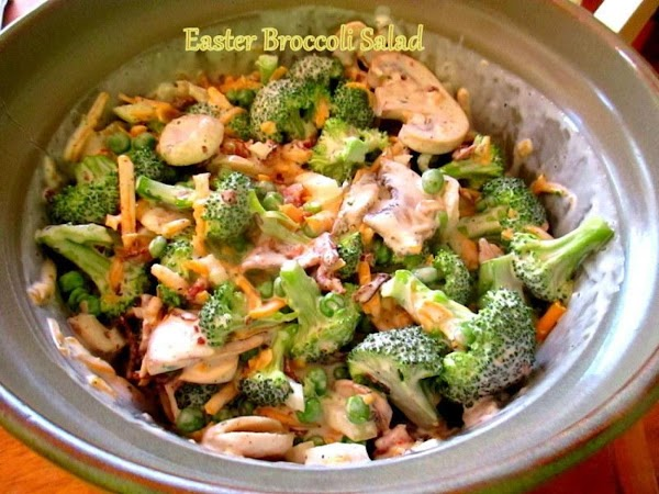 Once dressing is thickened, blend into the broccoli mixture and gently toss to coat.Keep...