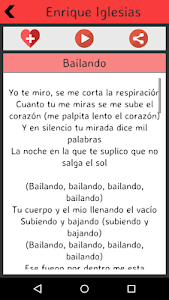 Enrique Iglesias Lyrics screenshot 2