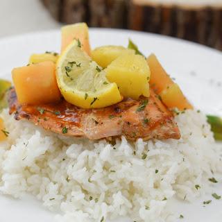 Maple BBQ Glazed Salmon