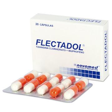 Flectadol 400Mg Cápsulas   Caja x20Cap. Novamed Tizanidina Ibuprofeno