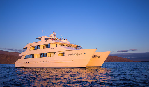 The sun begins to set at the end of a day of discovery aboard Avalon Waterways' Treasure of Galapagos.