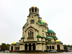 Photo: Alexander Nevsky Eastern Orthodox Cathedral, largest in the world.  Sofia.