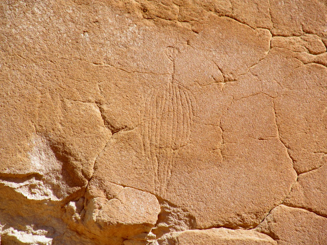 Incised glyphs