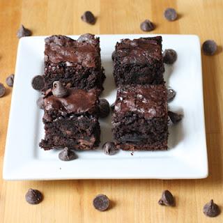 Healthier Whole Wheat Dark Chocolate Brownies.