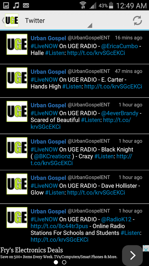 Urban Gospel LIVE- screenshot