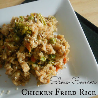 Slow Cooker Chicken Fried Rice