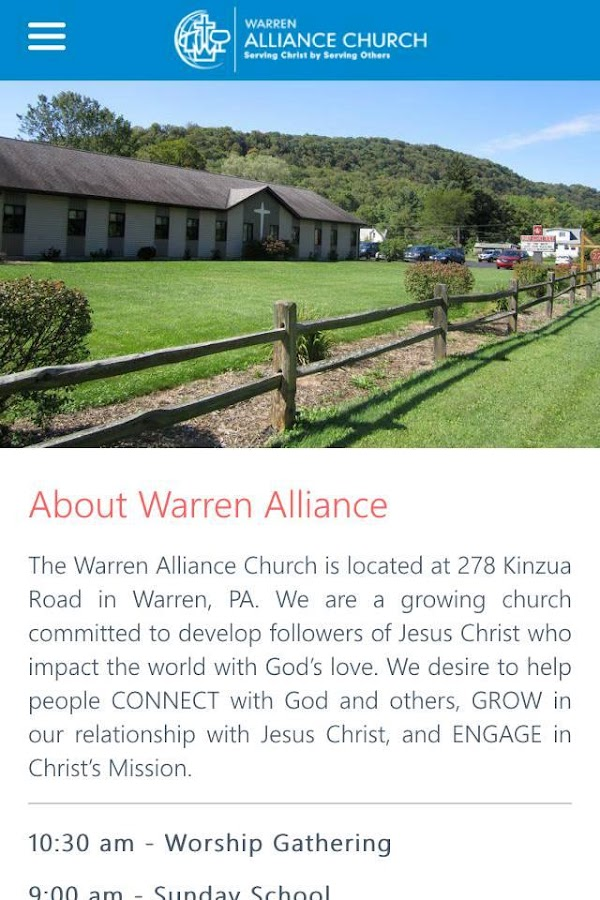 Warren Alliance Church- screenshot