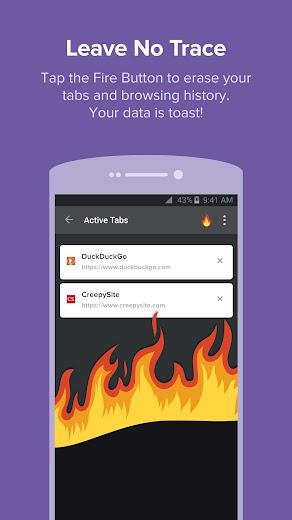 Screenshot 1 for DuckDuckGo's Android app'