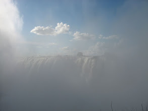 Photo: Typical view of the falls along the knife's edge trail... A bit misty...