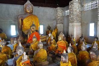 Photo: I love how the Thais dress their buddah's in beautiful scarves.