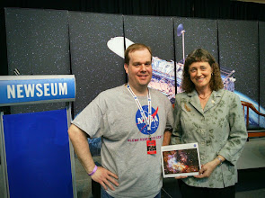 Photo: Dr. Jennifer Wiseman visited with me and other NASA Social participants following the Hubble 25th Anniversary Image Unveiling.