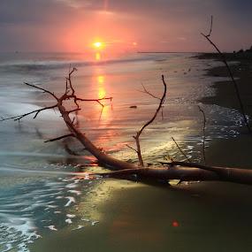 morning glory by Khairi Went - Uncategorized All Uncategorized ( aceh, waves, asia, sunrise, beach, landscape,  )