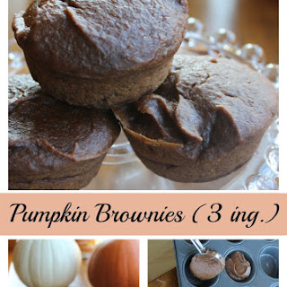Pumpkin Brownie Muffins – Three Ingredients
